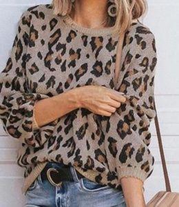 Ann Taylor Animal Print Sweater